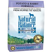 Natural Balance L.I.D. Limited Ingredient Diets® Potato & Rabbit Dry Dog Formula