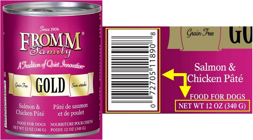 Fromm Canned Dog Food Recall