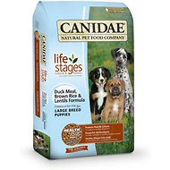 Canidae – Life Stages Large Breed Puppy Duck Meal, Brown Rice & Lentils Formula Dry Dog Food