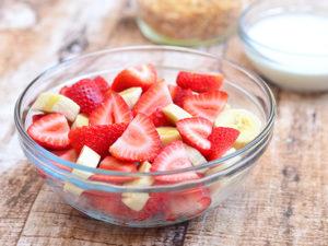 Fruity, Frozen Dog Treat Recipe | Strawberries and Bananas | Dogfood.guru