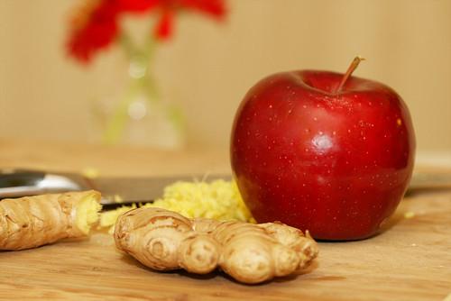ginger apple dog treat
