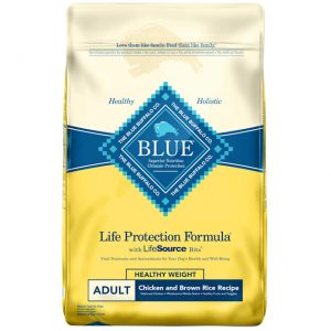 Blue Buffalo Life Protection Formula Healthy Weight Adult Chicken & Brown Rice Recipe Dry Dog Food